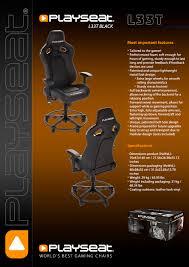 Playseat Elite Office Chair by Playseat L33t Black Playseathq