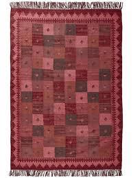 heine home teppich wohnzimmer esszimmer diele wolle orientalisch handgewebter kelim mit fransen cloth