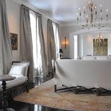 Blue Silk Living Room Curtains Design Ideas