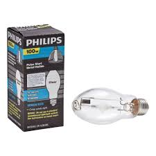 philips 100 watt metal halide hid light bulb 406033 the home depot