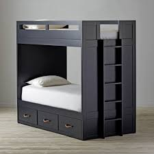 Low To The Ground Bunk Beds by Uptown Grey Twin Over Twin Bunk Bed The Land Of Nod