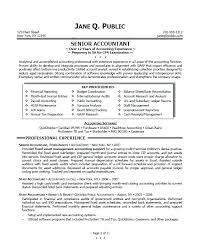 Accountant Resume Summary Sample Senior Bank Printable