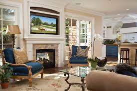 outside fireplace designs Living Room Traditional with family room