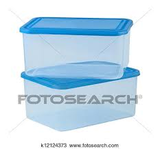 Stock of plastic food container like tupperware k
