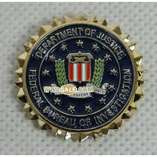 federal bureau of investigation deptment of justice hat or lapel pin