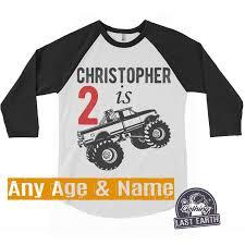 100 Monster Truck T Shirts Birthday Shirt Custom Personalized Name Etsy