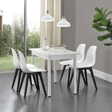 en casa 4x design stühle weiß schwarz esszimmer stuhl