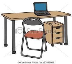 bureau clipart chaise bureau bois ordinateur portable bureau