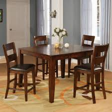 Holland House 1279 Mango Counter Pub Table Set With 4 Bar Stools ...