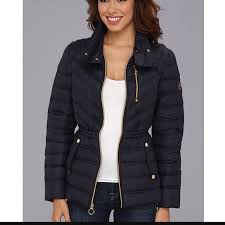 off Michael Kors Jackets & Blazers MICHAEL KORS Navy Quilted