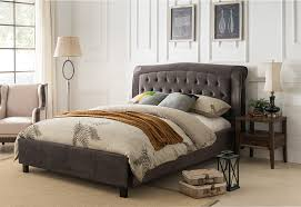gray crocodile pattern button tufted eastern king size platform bed