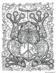 Coloring Pages Printable Colouring For Adults Flowers Adult Animals Big Frog Book Print