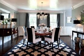 Black And White Dining Room Chair Covers For Classic Home Interior Design Ideas With Wooden Flooring