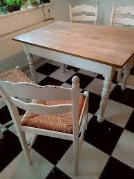 vier vintage stühle antik landhaus shabby chic küche esszimmer