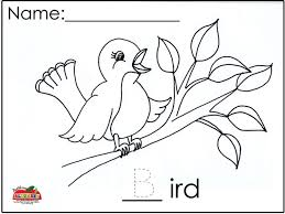 Blue Bird Coloring Sheet B Page Print Out Crafts