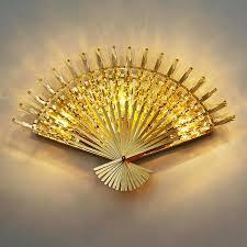 modern fan shape corridor wall light luxury european