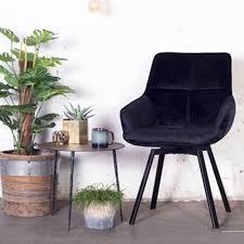 esszimmerstuhl drehbar shannon samt schwarz velvet stuhl