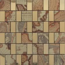 peel and stick tile gold aluminum metal wall tile brick adhsive