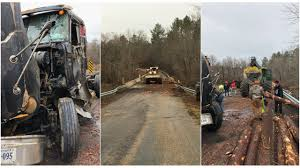 100 Game Truck Richmond Va Driver Charged After Log Truck Overturns Spills Load In Nottoway County