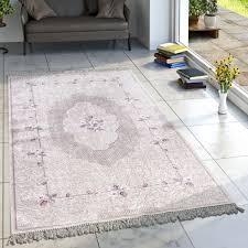 designer teppich orient pastelltöne lila