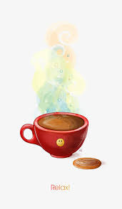 Cartoon Coffee Clipart Red Cup Mug PNG Image And
