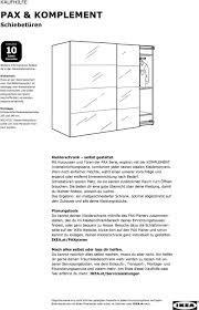 pax komplement schiebetüren kaufhilfe pdf free
