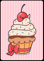 Drawn muffin birthday cupcake 9