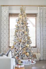 9 Ft Flocked Pre Lit Christmas Tree by Holiday Home Showcase Christmas Tour Zdesign At Home