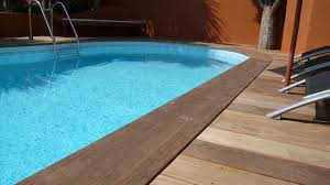 margelle piscine en bois margelle bois en ipe
