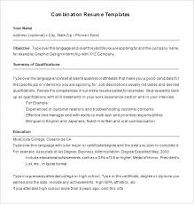 Resume Outline Examples Combination Template 6 Free Samples Format With Regard To