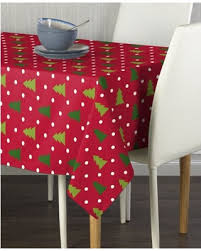 Christmas Trees Red Milliken Tablecloths