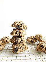 Chewy Oatmeal Chocolate Chip Almond Butter Cookies