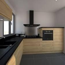 cuisine grise et plan de travail noir cuisine équipée grise bois moderne filipen gris mat cuisine