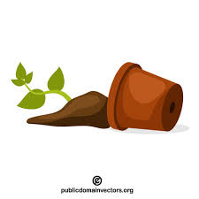 Broken Pot Vector Clip Art