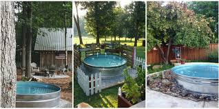 Metal Horse Trough Bathtub by Stock Tank Swimming Pool Ideas How To Make A Pool From A Stock Tank