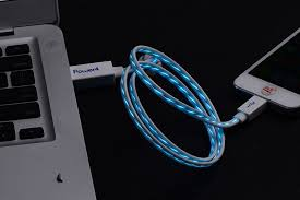 Mfi Light Up Charging Cable Luminescent Visible Current Flow Smart