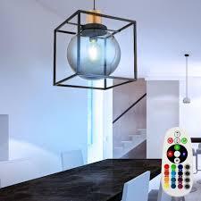 etc shop led pendelleuchte hängele kugel len esszimmer kugel pendelleuchten wohnzimmer rauchkugel fernbedienung farbwechsel dimmbar 9 watt