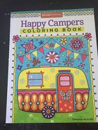 Happy Campers Coloring In Book