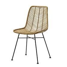 fauteuil de bureau lena chaise design en rotin tressé bloomingville sur cdc design