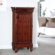 Belham Living Seville Antique Walnut Locking Jewelry Armoire ... Jewelry Armoires Bedroom Fniture The Home Depot Armoire Mirror Modern Style Belham Living Hollywood Mirrored Locking Wallmount Mele Co Chelsea Wooden Dark Walnut Amazoncom Powell Classic Cherry Kitchen Ding Natalie Silver Top Black Options Reviews World Southern Enterprises Mahogany