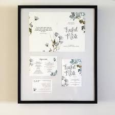 Hand Lettered Watercolour Wedding Invitation Set On Luxury Card Save The Dates Invitations UK Australia