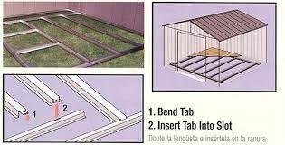 arrow galvanized steel storage shed 10x8 outdoor shed foundation kit 8 x 8 10 x 8 or 10 x 9 fb109