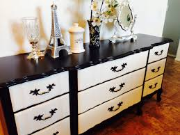 Baby Cache Heritage Dresser White by Perfectly Painted French Provincial Black And White Dresser Diy