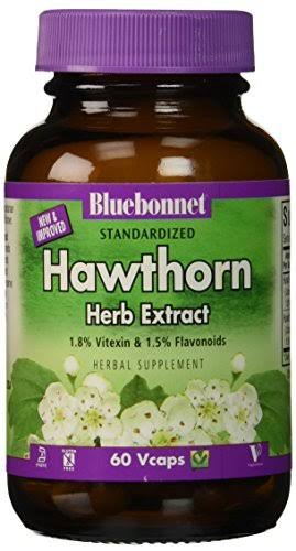 Bluebonnet Standardized Hawthorn Herb Extract - 60 Vcaps