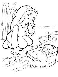 Baby Moses Coloring Pages Home