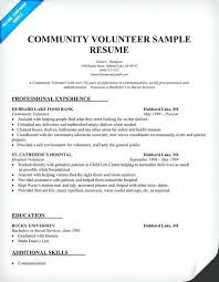 Sample Resume With Gaps In Employment Community Volunteer Samples Across All Industries