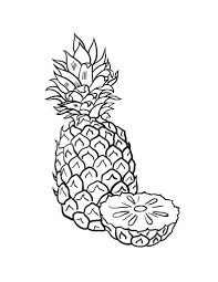 Free Pineapple Coloring Page