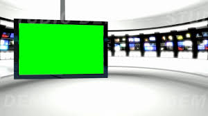 News Studio 9 Green Screen Background