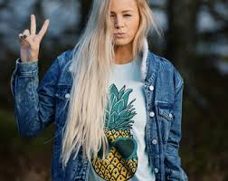 Womens Boho PINEAPPLE Sunglasses Shirt Pineapple Trendy Tumblr Tee Top Bohemian Vintage