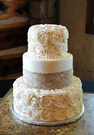 Stunning Ideas Burlap Wedding Cakes Captivating 30 For Rustic Country Weddings Rosette